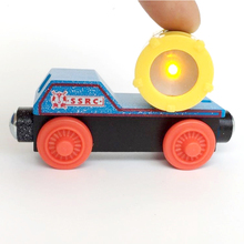 w48 free shipping RARE NEW WARNING TRUCK LIGHT ORIGINAL wooden Thomas and friend Children track game toys Child toy gift(China)