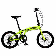 Altruism K1 Kids'bike mountain bikes 7 Speed Bicycle dual disc brakes 20 inch aluminum folding bike boys and girls Bicycles(China)