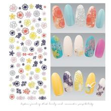 Flower Series Nail Water Decal Stickers Sakura Daisy Lavender Floral Pattern Transfer Sticker Manicure Nail Art Decoration(China)