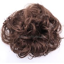 Fashion Hair Jewelry Extension Lady Woman Hairpiece Curly Chignon Wave Ponytail Bun Extensions For Hair Jewelry Fashion Wholesal