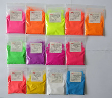 mix color fluorescent powder, fluorescent pigment ,1lot=13colors,10gram per color,total 130g,color:green,pink,yellow,white,etc..(China)