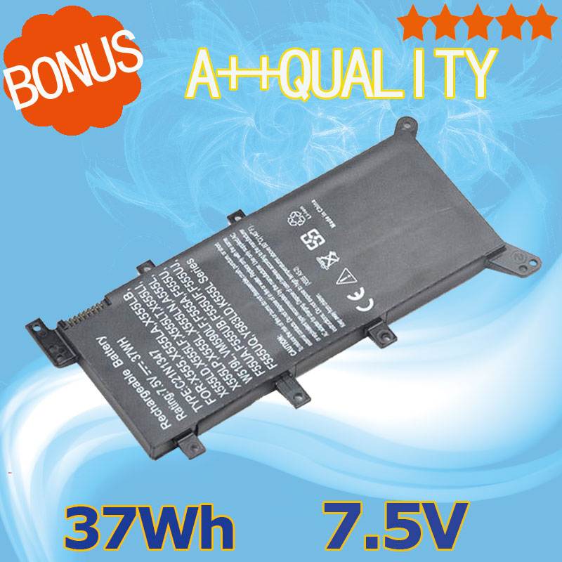 37Wh 7.5V New Battery C21N1347 Laptop Battery For ASUS X555 X555L X555LD X555LF X555LP X555LI X555LA X555LB X555LN 2ICP4/63/134