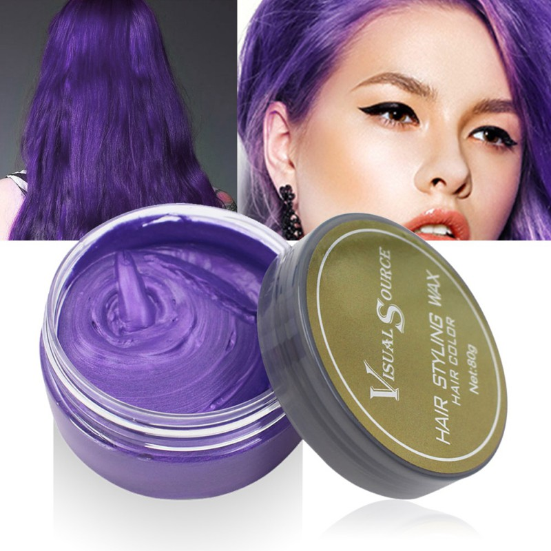 Professional Dynamic Modeling Hair Wax Makeup 5 Colors Hair Dye Wax Hair Color One-time Molding Paste Color Hair Wax New 2018 16