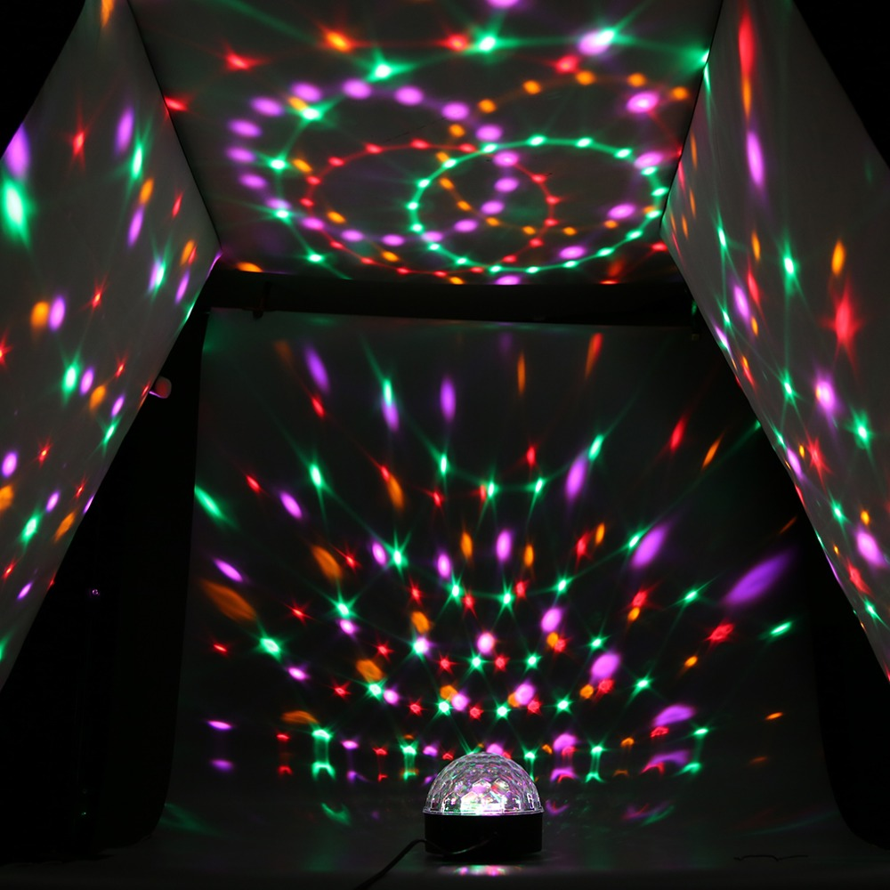 1Pc US Plug Sound Activated Crystal Ball LED Stage Disco Party Light DJ Stage Lighting<br><br>Aliexpress