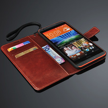 HTC820 Luxury Wallet Stand Design PU Leather Case for HTC Desire 820 D820U D820 Cover With Card Slot Bill Site Cases black(China)