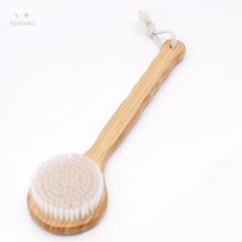 FEIXIANG 1PC Natural loofah body massage bath products Long handle bamboo brush Long handle massage brush   D5