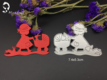METAL CUTTING DIES girl baby carriage  rabbit bunny Scrapbook card album paper craft home decoration embossing stencil cutter