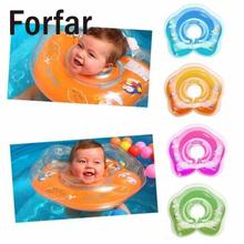 Forfar Safe Inflatable Circle New Born Infant Adjustable Swimming Neck Baby Swim Ring Float Ring Safety Double Protection
