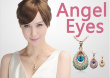 Crystal Angel Eyes USB Flash Drive 128GB 512GB Jewelry Necklace 8/16/32/64GB Memory Card Stick Pen Drive 1TB Gift Pendrive 32GB(China)