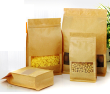print personal logo oem Kraft Paper Packaging Bag Food Storage Packing Bag Doy pack Stand Up Pouch Zipper Ziplock Bag Package(China)