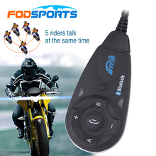 1 pcs V5 Interphone motorcycle helmet bluetooth intercom headset  Fully Duplex Wireless Communication among 5 Riders with FM