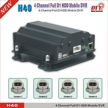 Max 4TB h.264 hard drive mobile dvr, realtime surveillance cctv hdd mobile car dvr 4 ch, H40-3G(China)