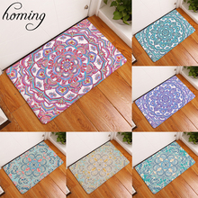 Homing Colorful Psychedelic Mandala Geometric Floral Printing Mats Welcome Home Doormats for Entrance Door Anti-skid Carpets