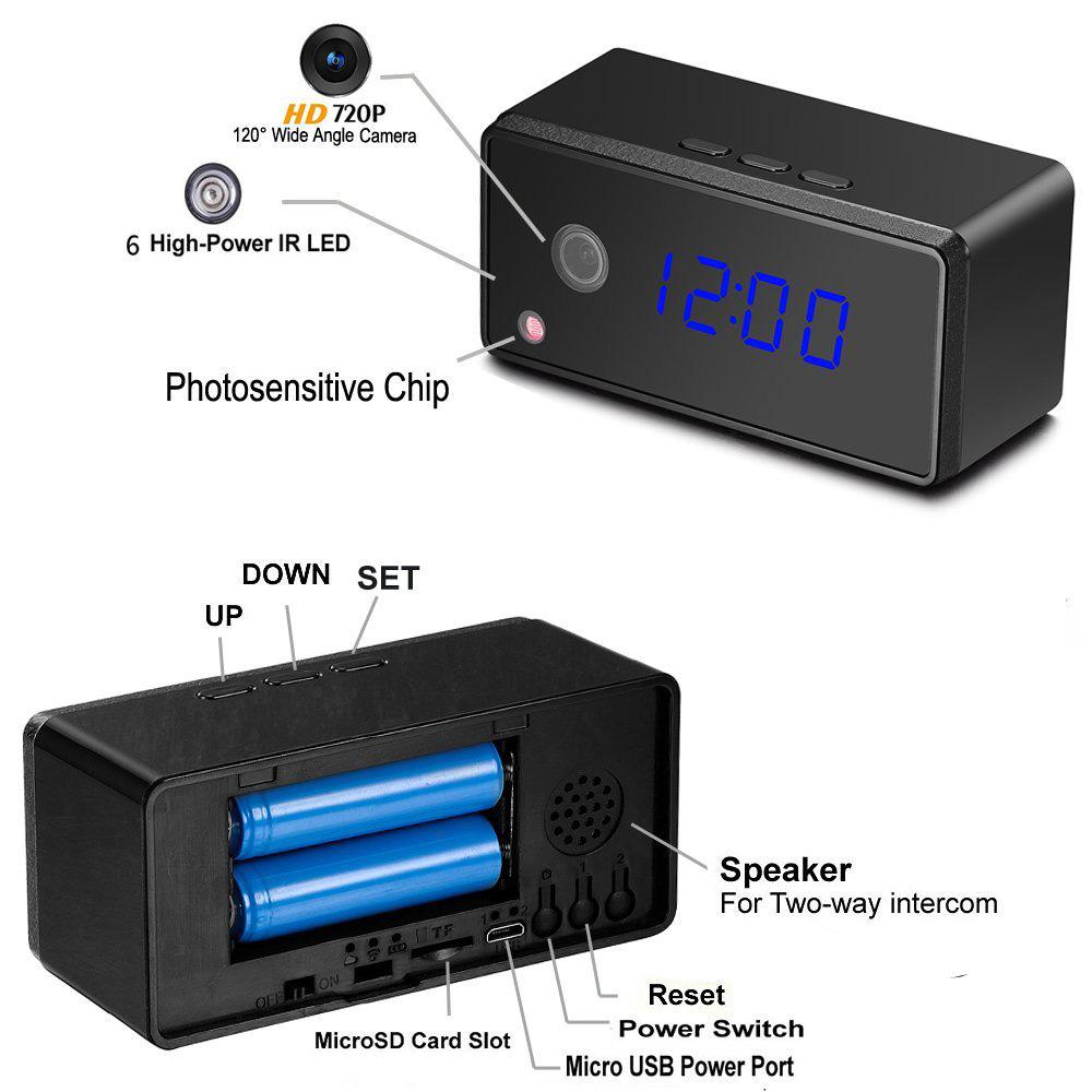 wifi mini clock camera table clock camera 2