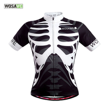 WOSAWE Men's Women Cycling Polyester Sweater Bike Running Sport skeleton Jersey Bicycle Outdoor Sports Shirt Cycle Wear Clothes(China)