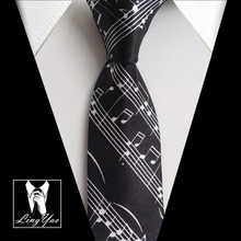 5cm High Fashion Skinny Ties Music Staff Gravata(China)