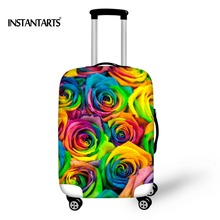 INSTANTARTS New Protect Luggage Cover apply to 18-30 inch Fashion Flower Prints Waterproof Travel Accessories Elastic Case Cover