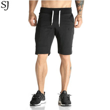 Man Shorts Men's Short Trousers 2016 Casual Calf-Length Jogger Mens Shorts Sweatpants Fitness Man Workout Cotton Shorts(China)