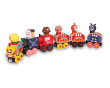 6pcs/set The Shape Of Six Section Blocks Cars Small Tractor Train Environmental Protection Wooden Train Learning Educayion toy(China)
