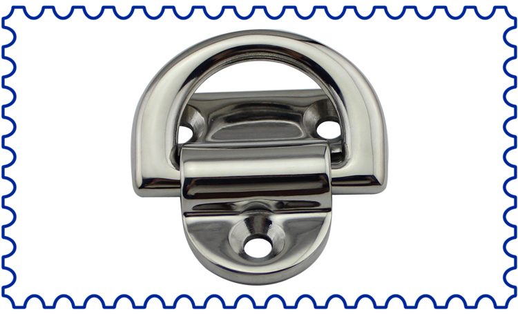 M8 8mm Hardware D Shuckle 316 Stainless Steel fitting fixing Shade Sail Boat Wal