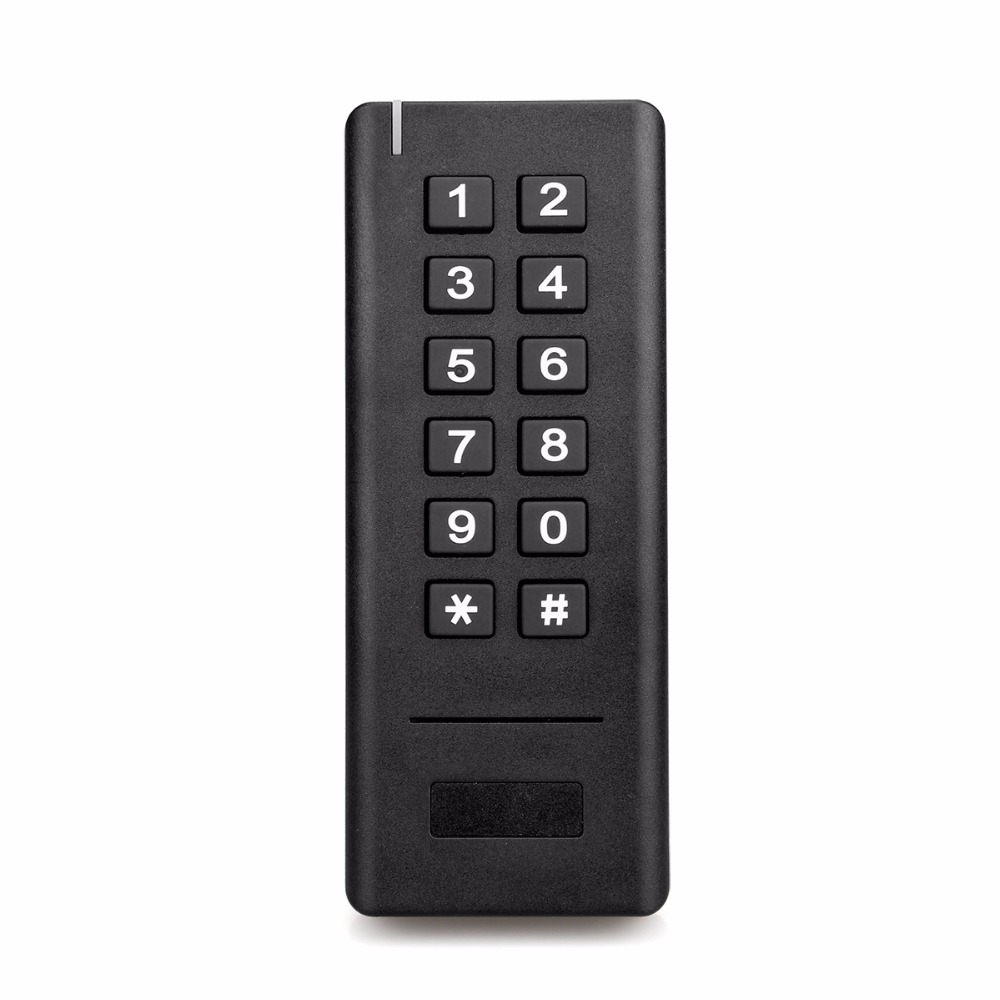 2.4G Wireless Access Control Kit Wireless Electric Door Lock RFID Keypad Remote Control Exit Button Black F1422A<br>