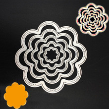 Metal New Cutting Dies Stencils DIY Scrapbooking Album Paper Card Craft Nice Flower Pattern