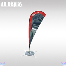280cm Height High Quality Outdoor Promotional Display Advertising Beach Flag Teardrop Banner Stand With Single Side Printing(China)