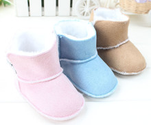 Fashion Baby Boots 2016 Winter Baby Snow Booties Babies Toddler Shoes Soft Keep Warm Kids Infant Crib Shoes First Walker D01