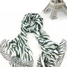 Soft Touch New Fashion Shawl Zebra Stripe Prints Muffler Chiffon Women Scarf Free shipping Ladies Scarf For Four Season  *40