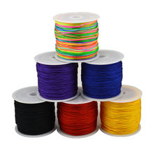 1Roll wire 0.8mm  45 meters long Colorful Stretch Elastic Crystal Line Jewelry  Braided wire fringe line wholesale