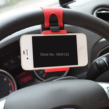 Car Steering Wheel Mount Holder Rubber Band For iPhone iPod MP4 GPS Accessories suporte para celular no carro voiture universal