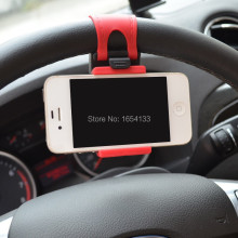 Car Steering Wheel Mount Holder Rubber Band For iPhone iPod MP4 GPS Accessories suporte para celular no carro voiture universal(China)