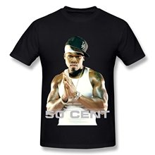 2017 New Short Sleeve Men Short Sleeve Fashion Summer Printing Casual PM4FS Hip Hop Singer 50 Cent Mens Fashion T Shirt Black