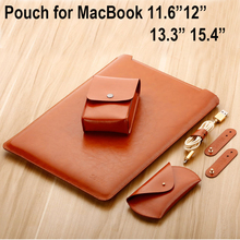 Microfiber Leather Laptop Bag for macbook air 13 11 pro 13 15 12 laptop case notebook bag computer bag For Macbook Pouch Cover