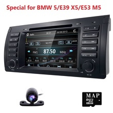for BMW 5 Series E39 E53 X5 M5 Autoradio Vehicle Wince 6.0 Single Din 7inch Car DVD Player GPS Navi Stereo Steering Wheel Camera(China)