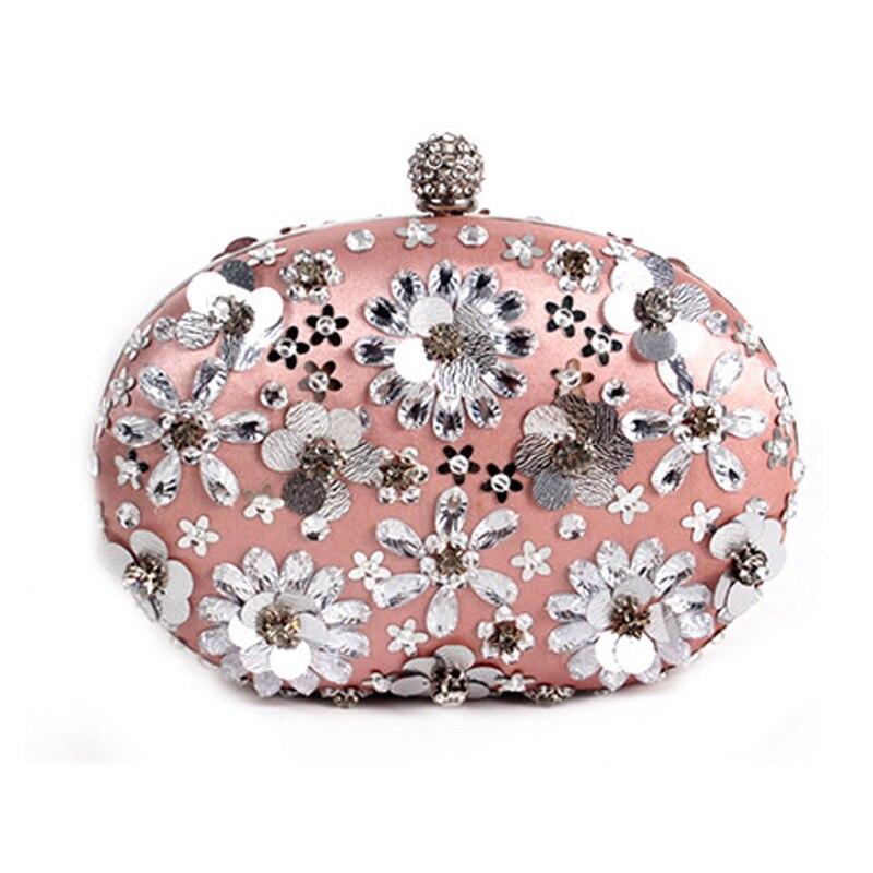 Hot 2017 Evening Bag Flower Bride Bag Purse Beading Diamond  Flower Crystal Evening Bag Clutch Bags Lady Wedding Purse<br>