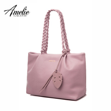 AMELIE GALANTI new fashion women shoulder bags famous design handbag casual totes pu solid soft criss-cross office lady shopping