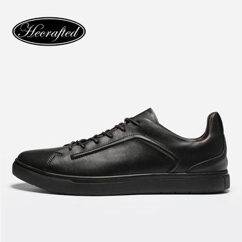 Taille 37 ~ 47 pleine fleur en cuir hommes occasionnels chaussures 2017 Hecrafted mode confortable hommes chaussures # AB501