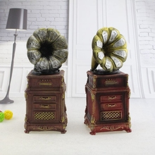 Classic Retro Phonograph Money Box Gramophone Model Saving Box cofre Unique Home Decorative Large Capacity Piggy bank tirelire(China)