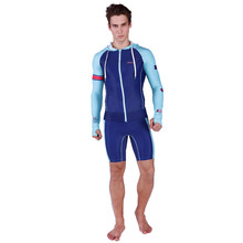 SABOLAY Rash Guard Suit ForMen UV Protection Long Sleeves Windsurf Surfing Tops Short pants Swimsuit Swimwear Free Shipping