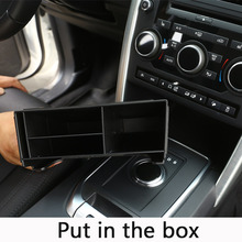 Car-Styling Plastic Central Console Multifunction Storage Box Phone Tray Accessory For Land Rover Discovery Sport 2015 2016 2017