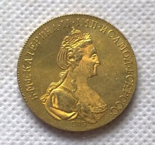 1777 russia 10 Roubles gold Coin copy  FREE SHIPPING