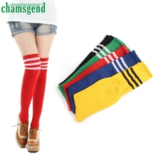 CHAMSGEND Good Deal 100% High Quality Pretty Breathable THIGH HIGH SOCKS Over Knee Girls Womens Cheerleader  1 Pair