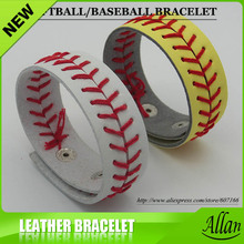 Wholesale Leather fastpitch softball/baseball seam bracelet(China)