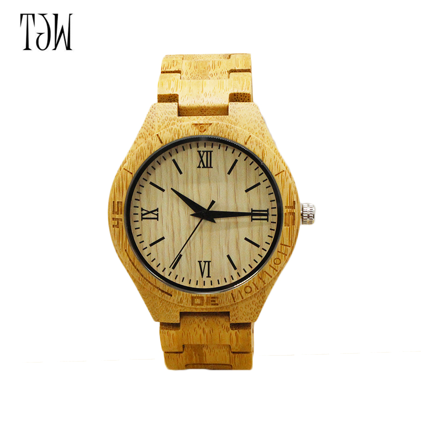 TJW New arrival Watches Men japanese miyota movement wristwatches  men bamboo wooden watches men and women<br>
