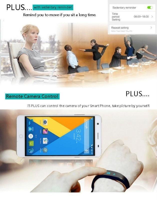 Original iwown I5 Plus Smart Bracelet Bluetooth Activity Wristband Fitness Sleep Tracker Reminder Passmeter Sports Watch 10