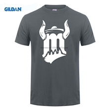 GILDAN Beauty Tee Shirt Short Sleeve Cotton Minnesotas Viking Gray T Shirts Mens Hip Hop Pop Round Neck Online Shop Jersey(China)