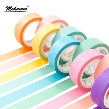 24 Style Creative Solid Color Japanese Decorative Adhesive Tape Washi Tape DIY Scrapbooking Masking Tape School Office Supply(China)