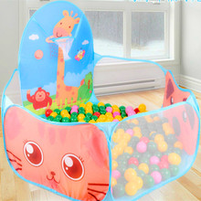 120*120*70cm Big Size Children's Play Tent kids Sea Ball Pool Big Shooting Box Can Fold Children's Outdoor Indoor Toys