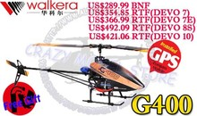 WALKERA G400 GPS Altitude Hold 6 Axis Gyro Flybarless 6CH Helicopter BNF RTF *Free Gift